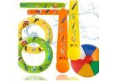 TK Gruppe Timo Klingler Schwimmring & Tauchring Set - mit Schwimmring Tauchring Wurfring - Tauchspielzeug zum Tauchen für Kinder & Erwachsene