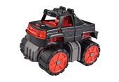 BIG-Power-Worker Mini Monstertruck kleines Spielzeug Auto ideal für Unterwegs Reifen aus Softmaterial rot schwarz anthrazit für Kinder ab 2 Jahren
