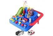 Garage Auto Kinder Spielzeugbahn für Kinder 4 5 6 Jahre City Rescue Car Adventure Auto Spielzeug Rampe Auto mit Hubschrauber Bus Auto für Kinder Jungen Mädchen