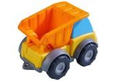 HABA 305180 - Spielzeugauto Muldenkipper Baustellenfahrzeug für Kinder ab 2 Jahren für drinnen und draußen Lastwagen 13 cm mit Mulde zum Transportieren und Abladen