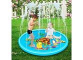 Adya Sprinkler Pad Splash Play Mat Outdoor PVC Children Play Water Mat Beach Pad Inflatable Spray Water Cushion Toys Durable Portable Inflatable Sprinkler Pad Sprinkle Wading Pool
