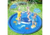 Peradix Splash Pad Sprinkler Play Matte 170cm Sommer Garten Wasserspielzeug Kinder Baby Pool Pad Spritzen für Outdoor Familie Aktivitäten/Party/Strand/Kinder Haustiere - Nicht aufblasbar