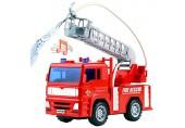 Feuerwehrauto - Feuerwehr Spielzeug mit Sirene und Glühen Mini LKW Löschfahrzeug Fahrzeuge Modellauto Kinder ab 3 4 5