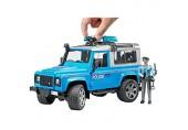 Bruder 02597 - Land Rover Defender Station Wagon Polizeifahrzeug mit Polizist und Ausstattung