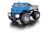 Maisto Tech R/C Mercedes-Benz Unimog U5000: Ferngesteuerter Unimog mit Licht Maßstab 1:16 mit Stick Controller ab 5 Jahren 30 cm blau (582301)