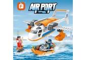 Airport City Airport Suchen und Rettung Flugzeug Jungenruhe mit einem Holzspielzeug Kind Geschenk 274 stück