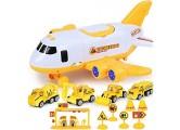 Flugzeug-Spielzeug Transportflugzeug und Auto Spielzeug-Set pädagogisches Fahrzeug Bauwagen-Set für Kinder Kleinkinder Jungen Geschenk für 3 4 5 6 Jahre 4 Autos großes Flugzeug